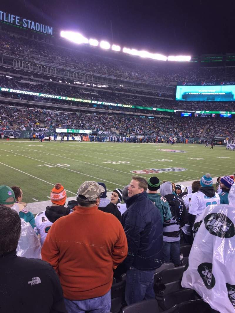 Seating view for MetLife Stadium Section 117 Row 8 Seat 18