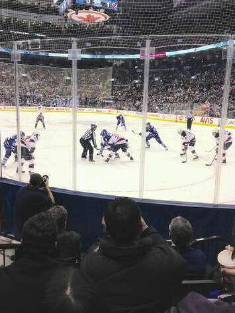 Seating view for Scotiabank Arena Section 115 Row 8 Seat 3