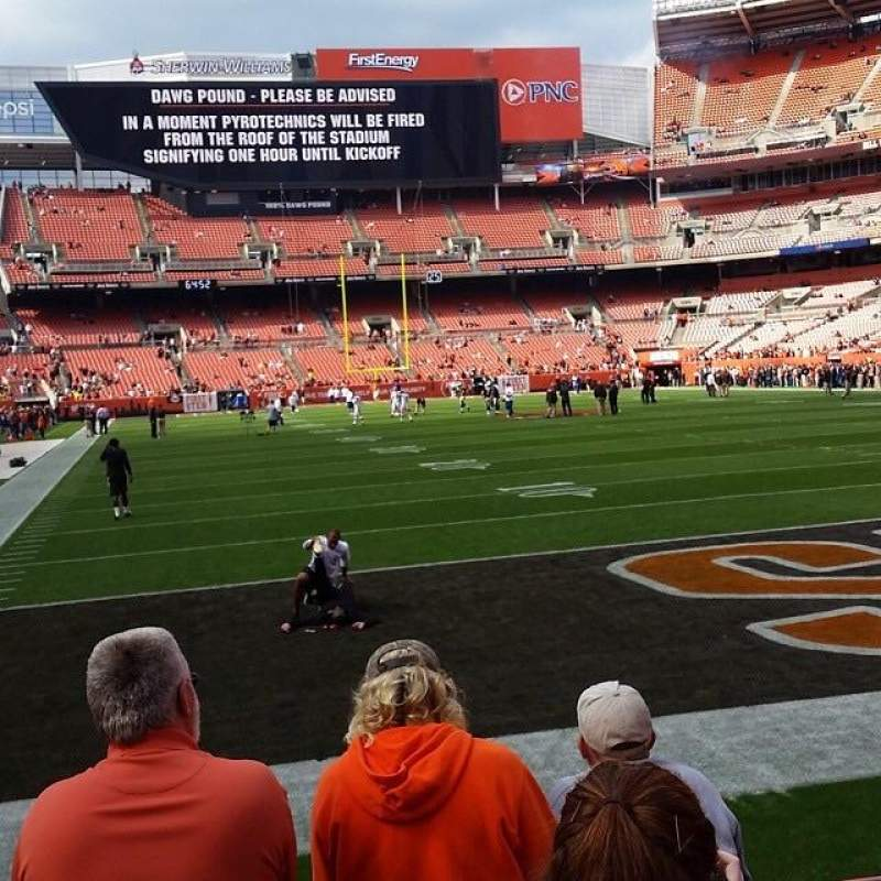 Seating view for FirstEnergy Stadium Section 118 Row 4