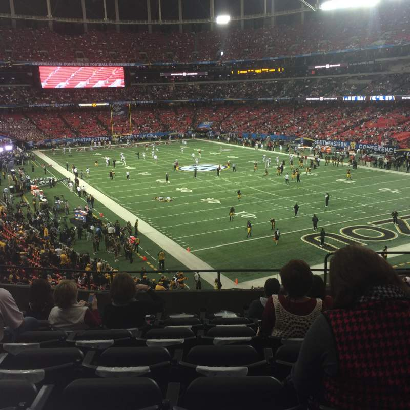 Seating view for Georgia Dome Section 239 Row 7 Seat 13