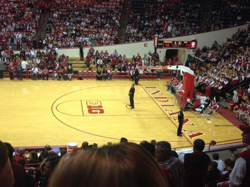 Seating view for Assembly Hall (Bloomington) Section C Row 13 Seat 104