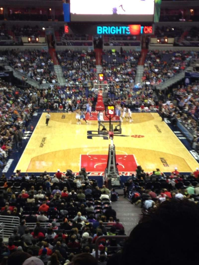 Seating view for Verizon Center Section 222 Row J Seat 14