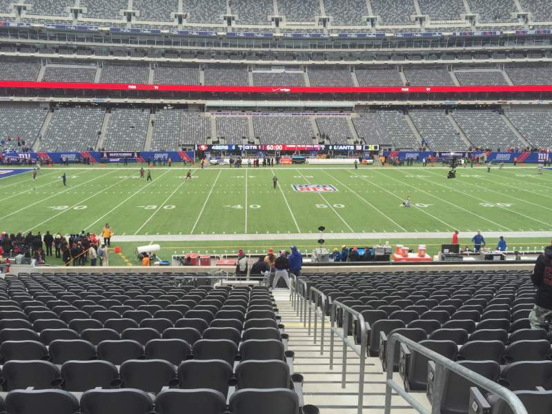 Seating view for MetLife Stadium Section 140 Row 29 Seat 1 and 2