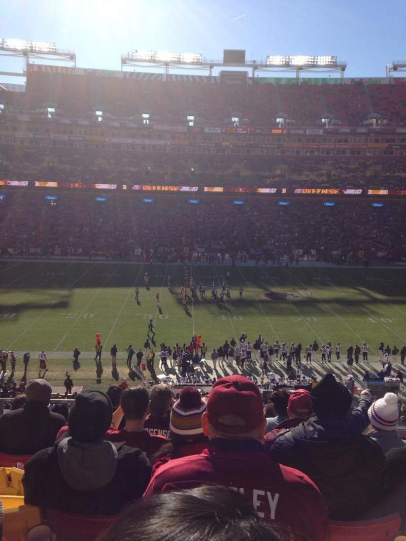 Seating view for FedEx Field Section 323 Row 7 Seat 3