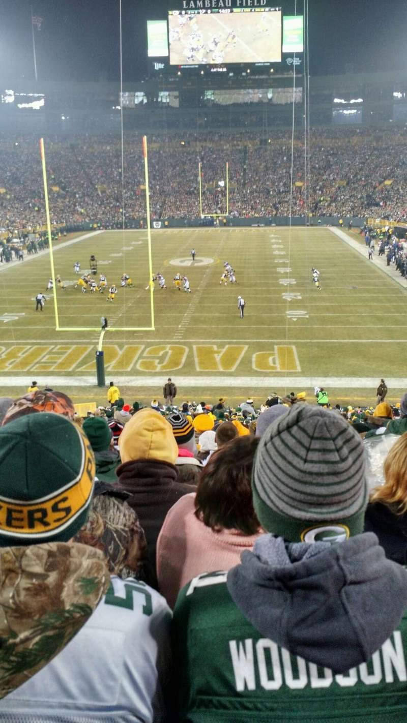 Seating view for Lambeau Field Section 137 Row 40 Seat 10