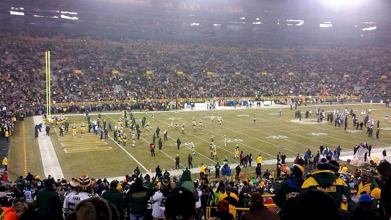 Seating view for Lambeau Field Section 129 Row 42 Seat 13