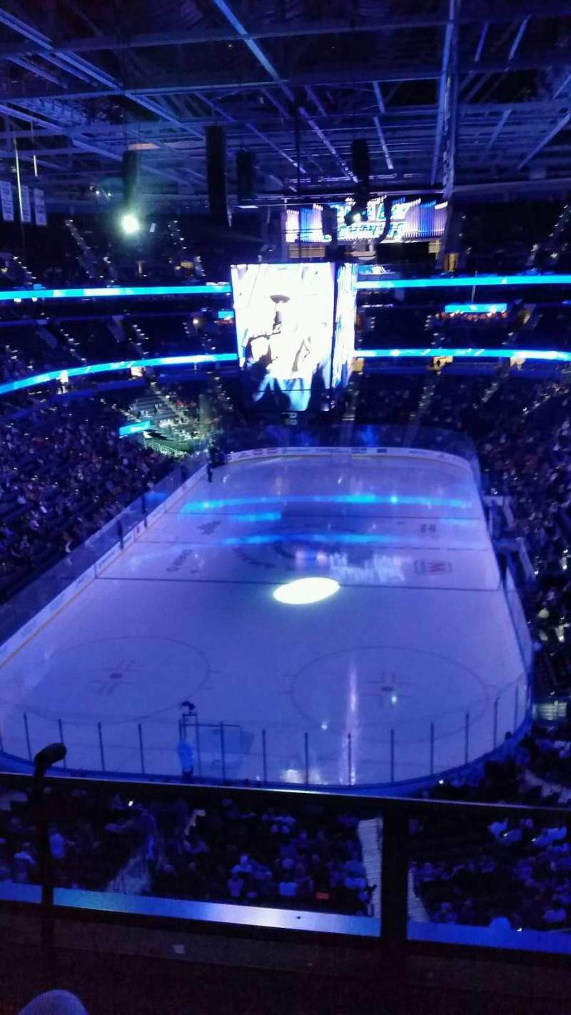 Seating view for Amalie Arena Section 308 Row B Seat 5