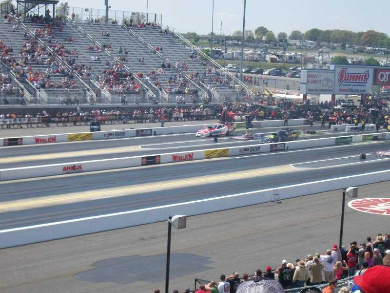 Seating view for zMAX Dragway Section John Force section M Row 16 Seat 16