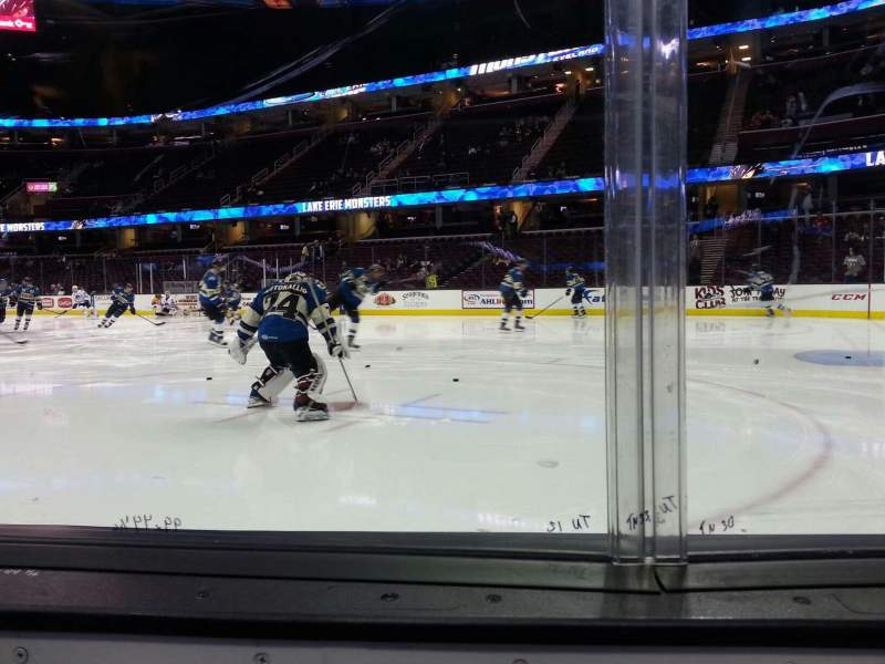 Seating view for Quicken Loans Arena Section 128 Row 1 Seat 7