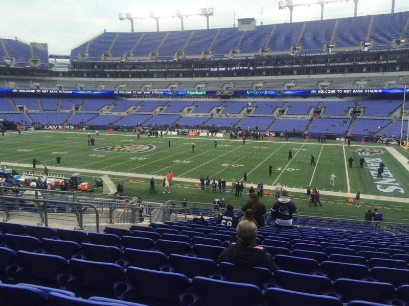 Seating view for M&T Bank Stadium Section 150 Row 34 Seat 13
