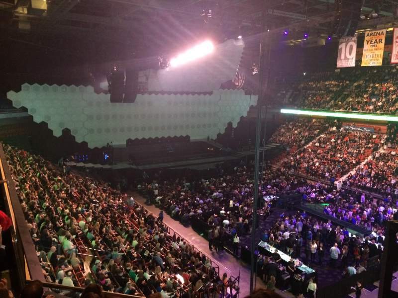 Seating view for Mohegan Sun Arena Section 115 Row E Seat 1