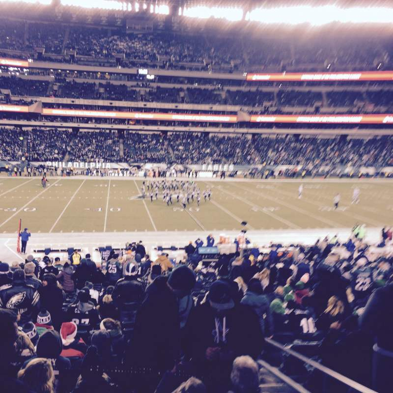 Seating view for Lincoln Financial Field Section 119 Row 26 Seat 3
