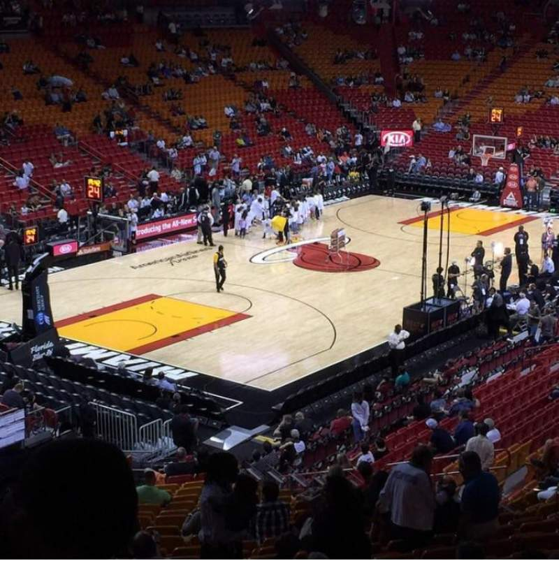 Seating view for American Airlines Arena Section 122 Row 34 Seat 16