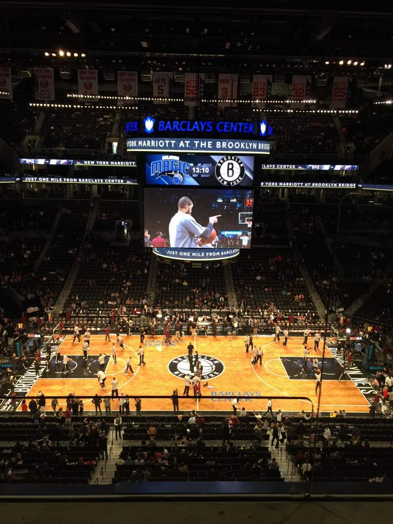 Seating view for Barclays Center Section 225 Row 2 Seat 1-2