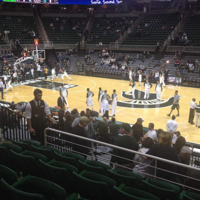 Seating view for Breslin Center Section 109 Row 17