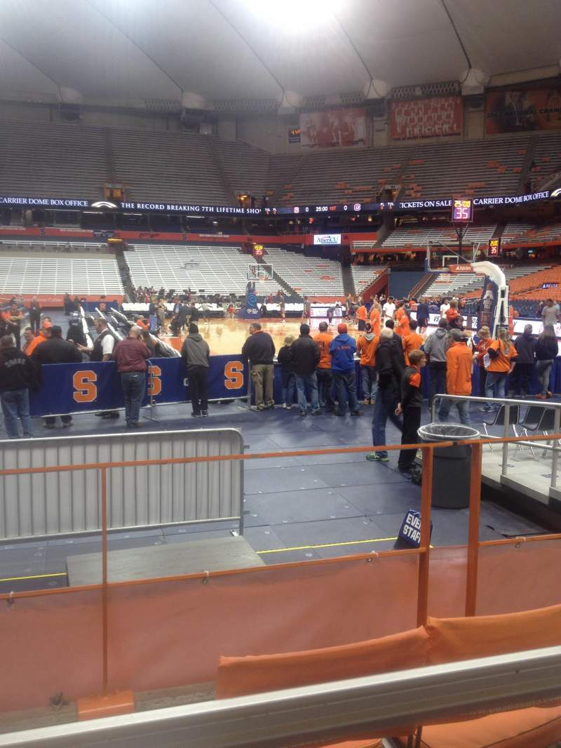 Seating view for Carrier Dome