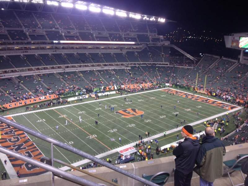 Seating view for Paul Brown Stadium Section 315 Row 13 Seat 19