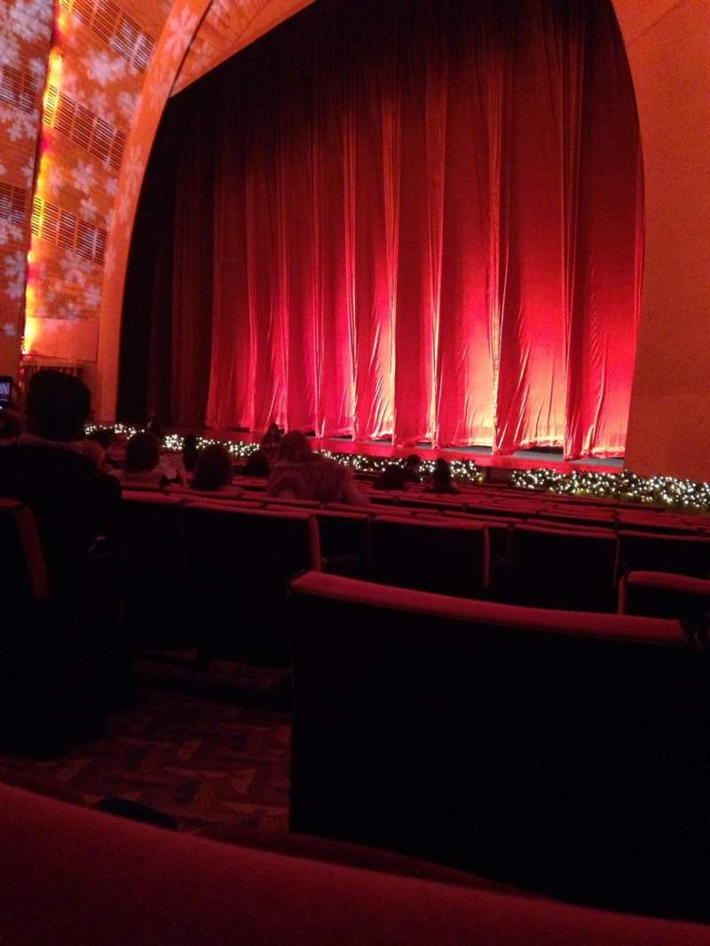 Seating view for Radio City Music Hall Section orchestra 1 Row SS Seat 109