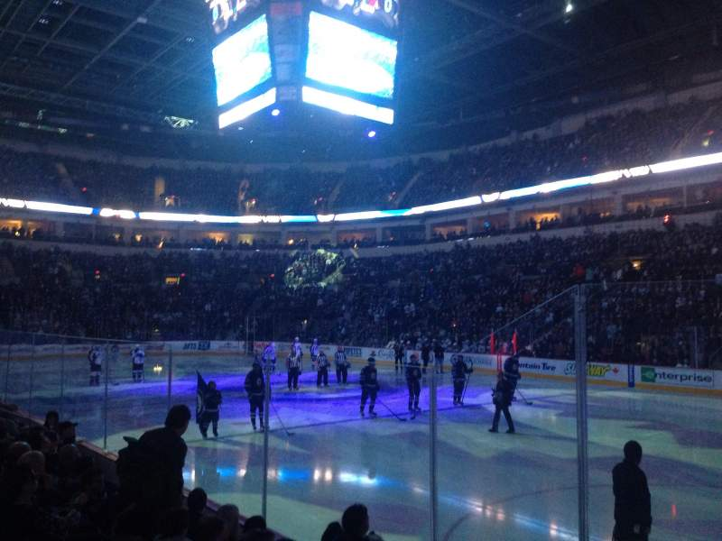 Seating view for Bell MTS Place Section 103 Row 5 Seat 13-14