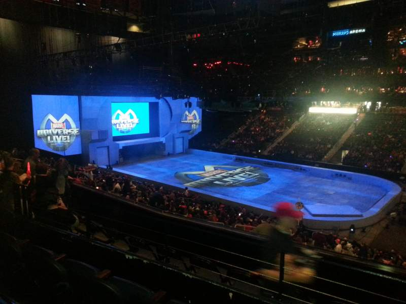 Seating view for State Farm Arena Section 210 Row c Seat 1