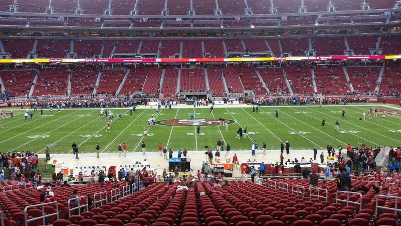 Seating view for Levi's Stadium Section 138 Row 35