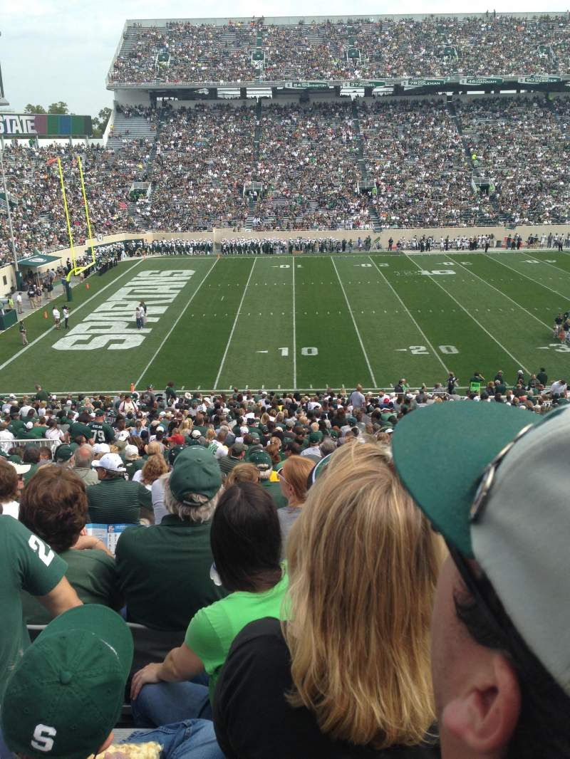 Seating view for Spartan Stadium Section 26 Row 46