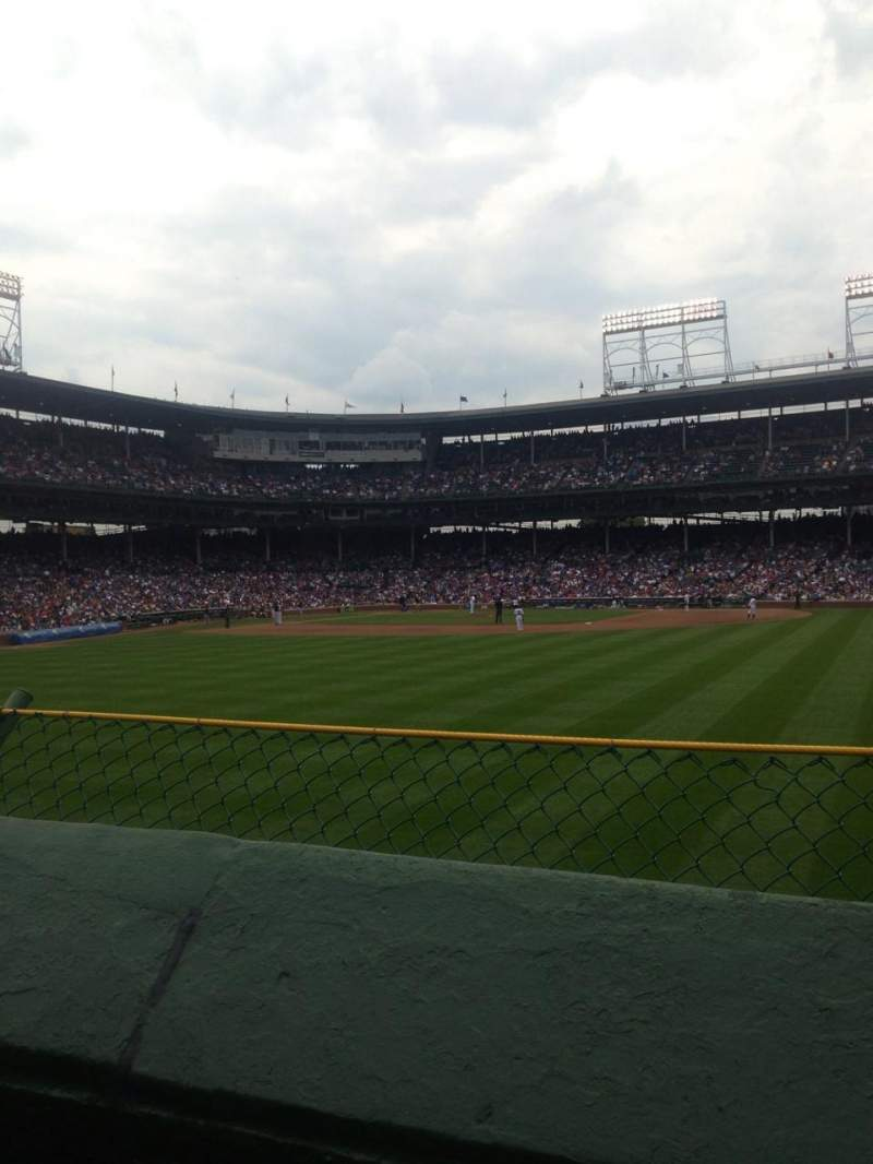 Seating view for Wrigley Field Section 314 Row 1