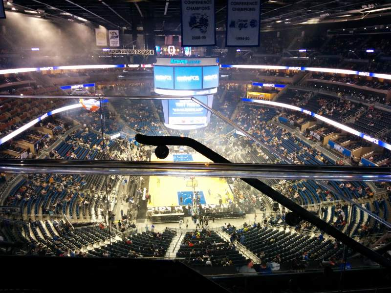 Seating view for Amway Center Section 217 Row 9 Seat 20