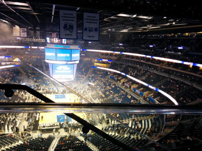 Seating view for Amway Center Section 217 Row 9 Seat 19
