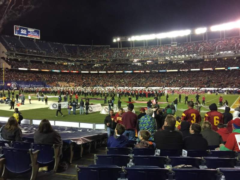 Seating view for Qualcomm Stadium Section F11 Row 13 Seat 2