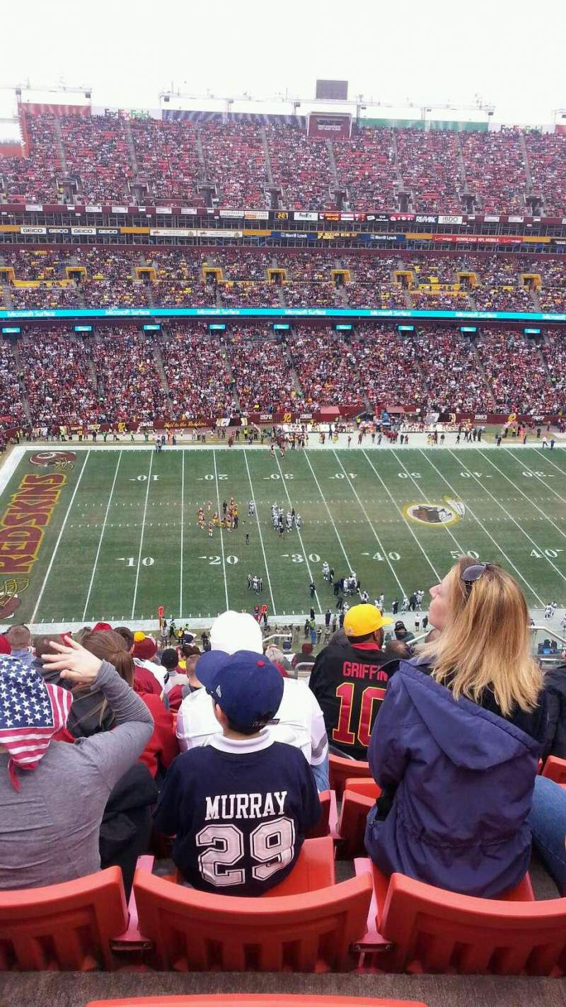 FedEx Field, section: 430, row: 18, seat: 5