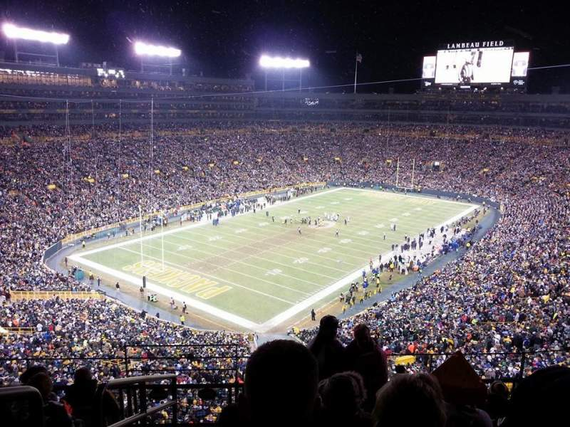 Seating view for Lambeau Field Section 637s Row 6 Seat 14