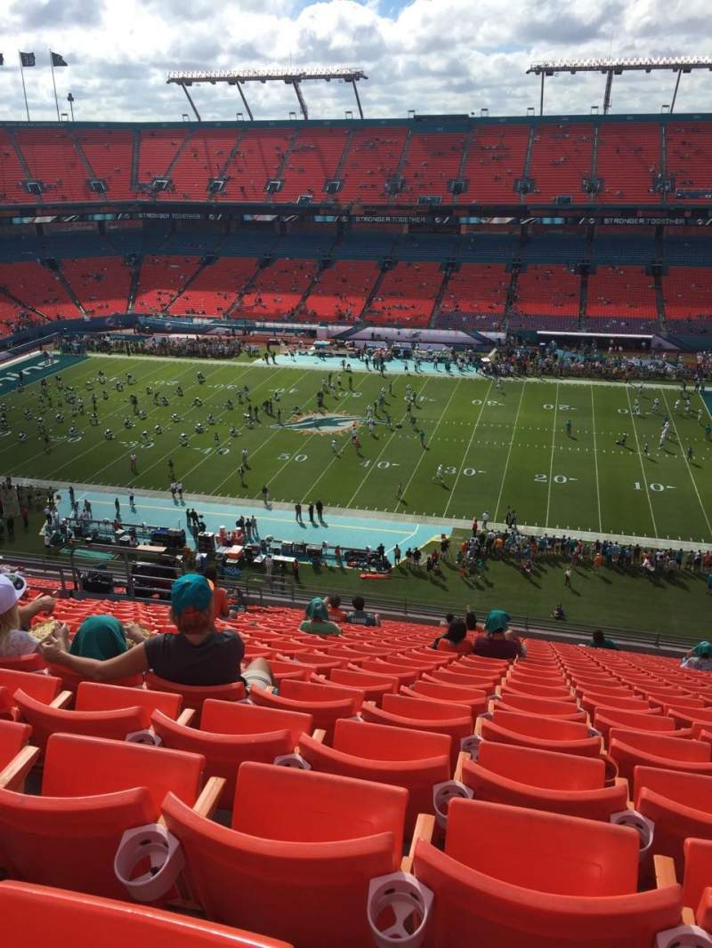 Seating view for Hard Rock Stadium Section 412 Row 22 Seat 13