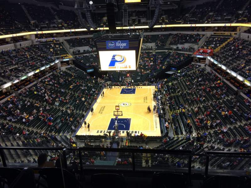 Seating view for Bankers Life Fieldhouse Section 216 Row 5 Seat 14
