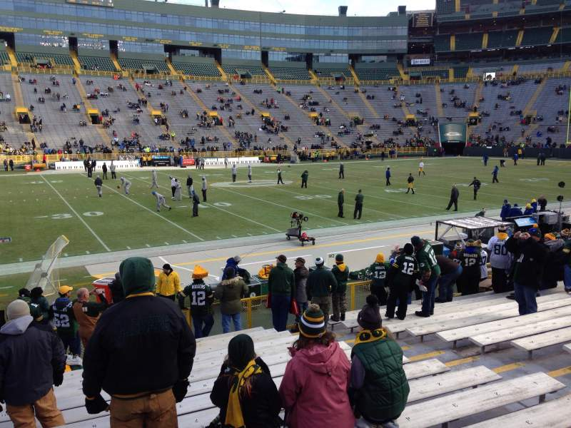 Seating view for Lambeau Field Section 116 Row 16 Seat 9