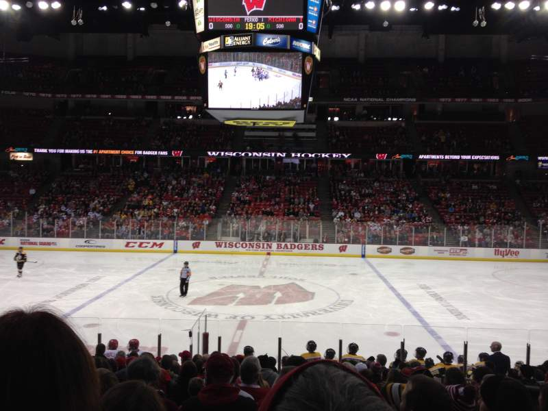 Seating view for Kohl Center Section 122 Row Q Seat 4-8
