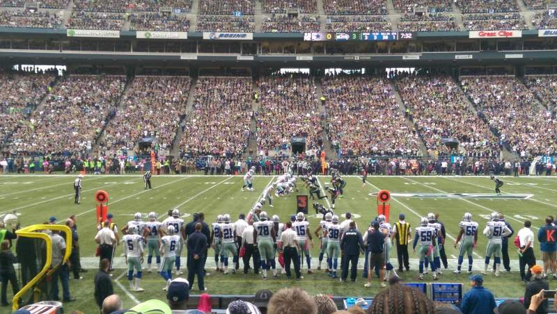 Seating view for CenturyLink Field Section 110 Row H Seat 8