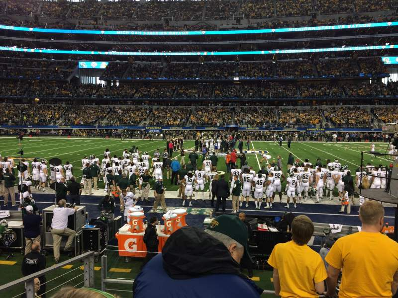 Seating view for AT&T Stadium Section C135 Row 4 Seat 14