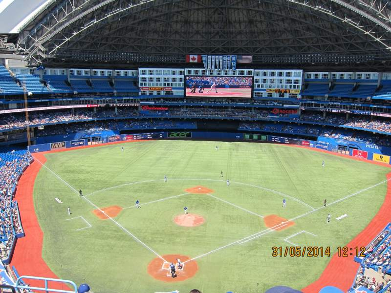Seating view for Rogers Centre Section 524AR Row 7 Seat 3