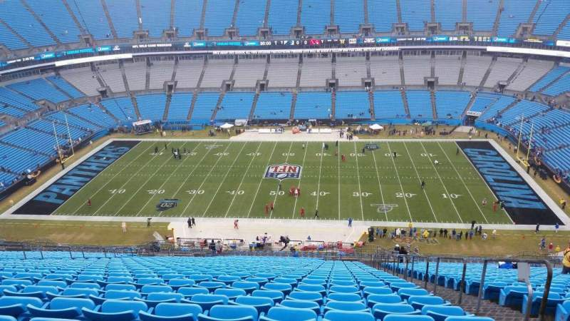 Seating view for Bank of America Stadium Section 514 Row 33 Seat 3