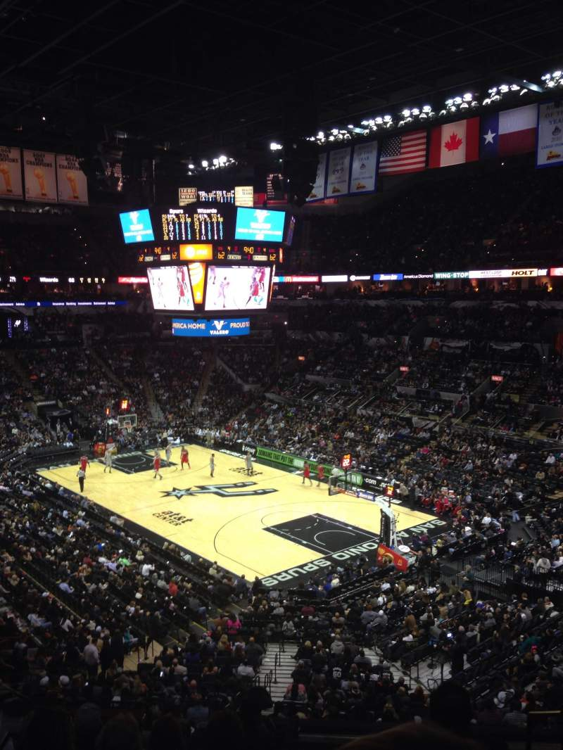 Seating view for AT&T Center Section SB2B Row 7 Seat 2