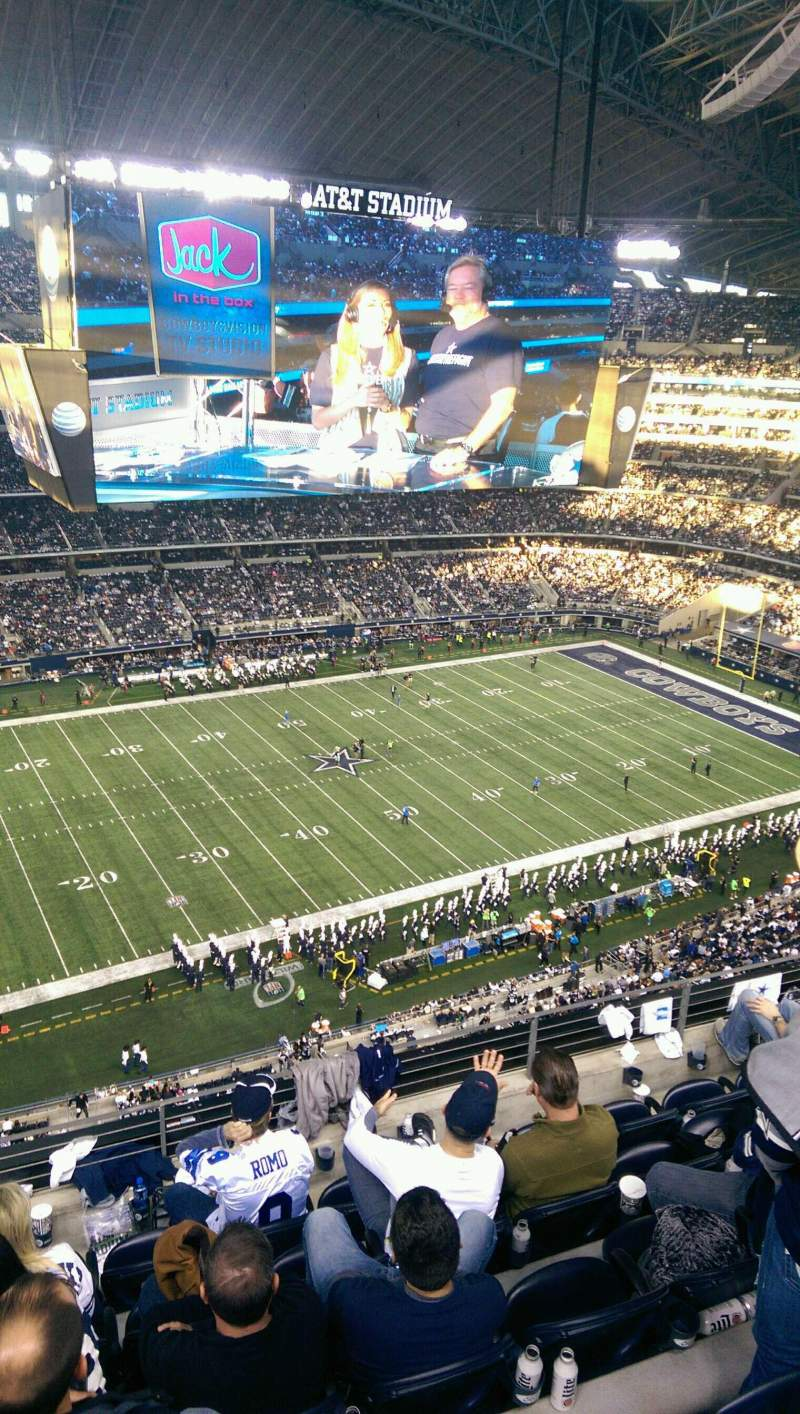 Seating view for AT&T Stadium Section 415 Row 6 Seat 16