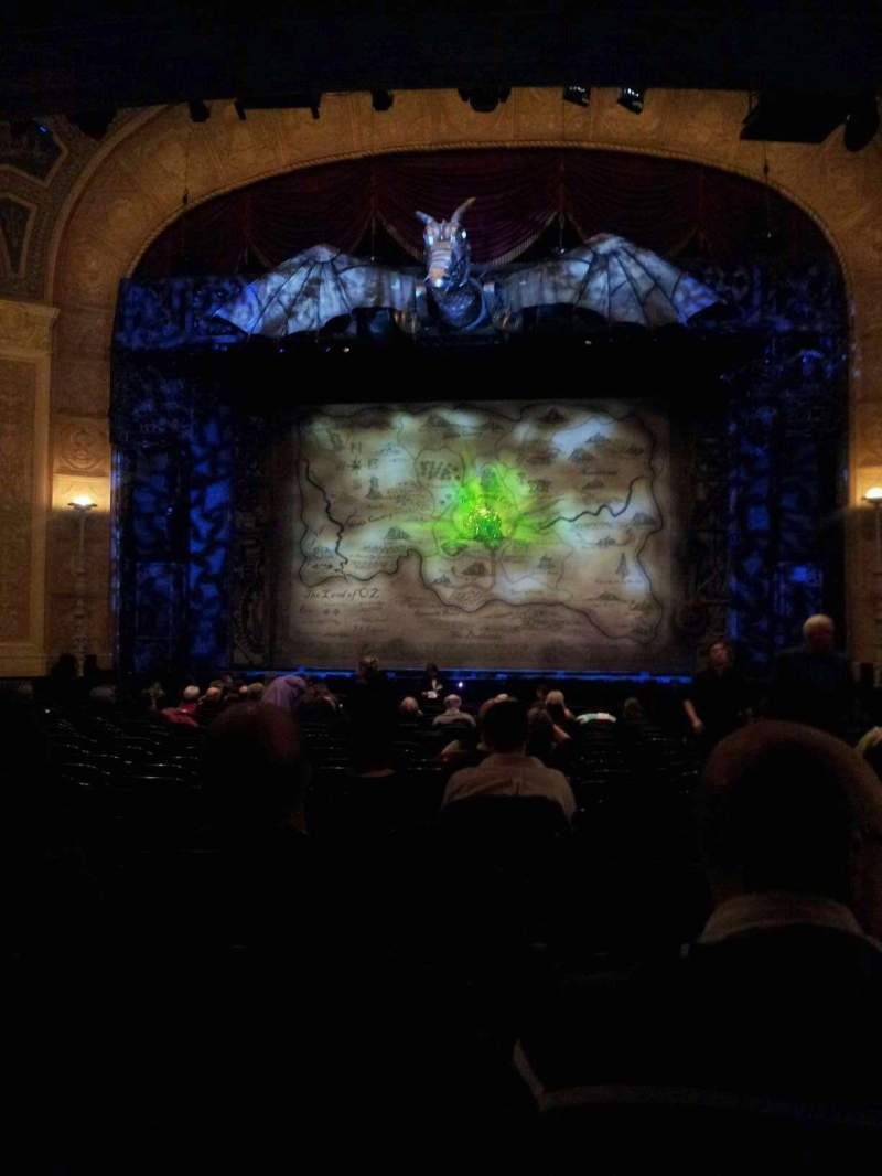 Seating view for Detroit Opera House Section Main Floor Row V Seat 213