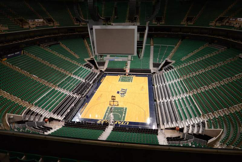 Seating view for Vivint Smart Home Arena Section 101 Row 5
