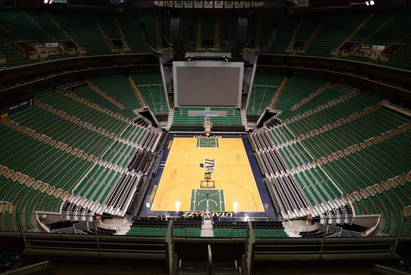 Seating view for Vivint Smart Home Arena Section 102 Row 8