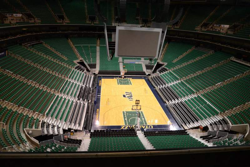 Seating view for Vivint Smart Home Arena Section 103 Row 5
