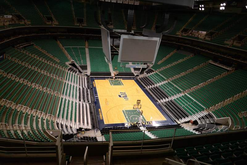 Seating view for Vivint Smart Home Arena Section 104 Row 8