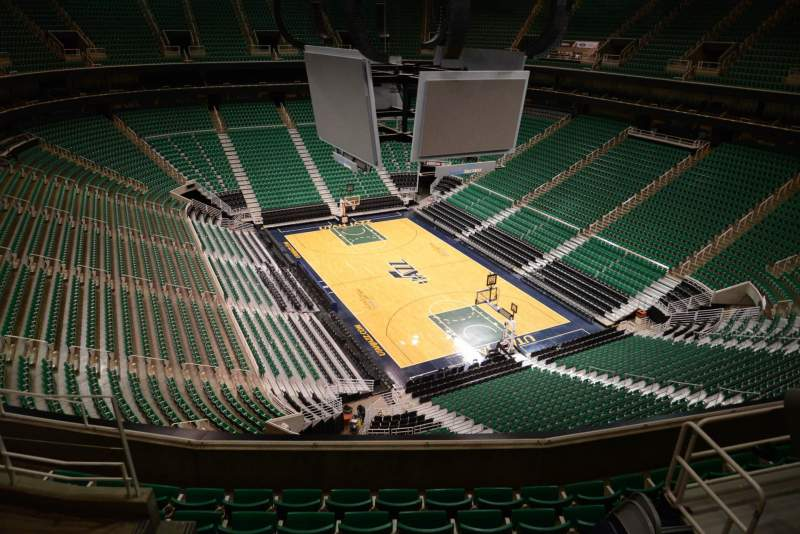 Seating view for Vivint Smart Home Arena Section 105 Row 7