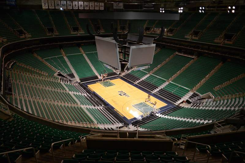 Seating view for Vivint Smart Home Arena Section 106 Row 15