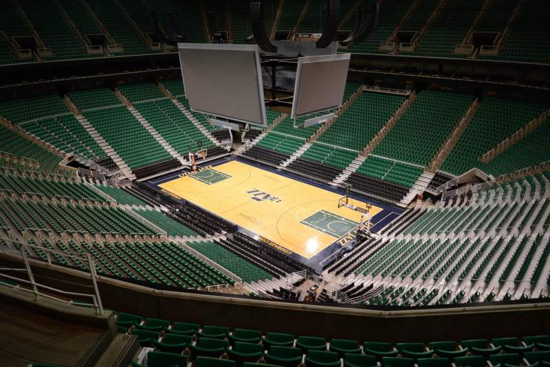 Seating view for Vivint Smart Home Arena Section 107 Row 7